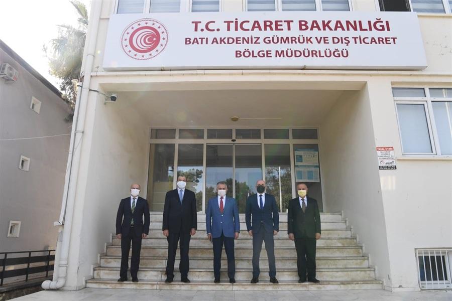 Antalya Valimiz Sayın Ersin YAZICI Bölge Müdürlüğümüze Ziyarette Bulundu